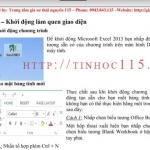 Giáo trình tự học Excel 2010 tiếng việt chọn lọc