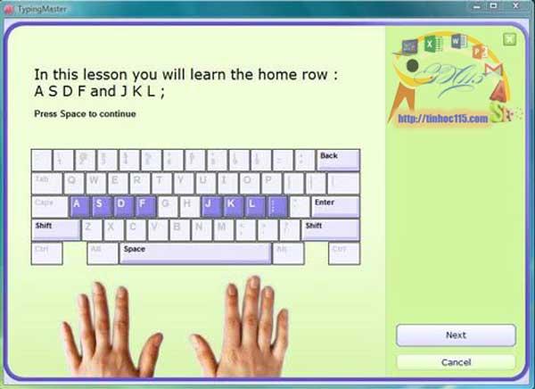 Phần mềm luyện đánh máy 10 ngón nhanh nhất