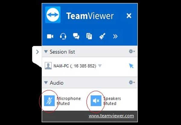 Hình 4: Cho phép sử dụng Microphone và Loa để đàm thoại teamview