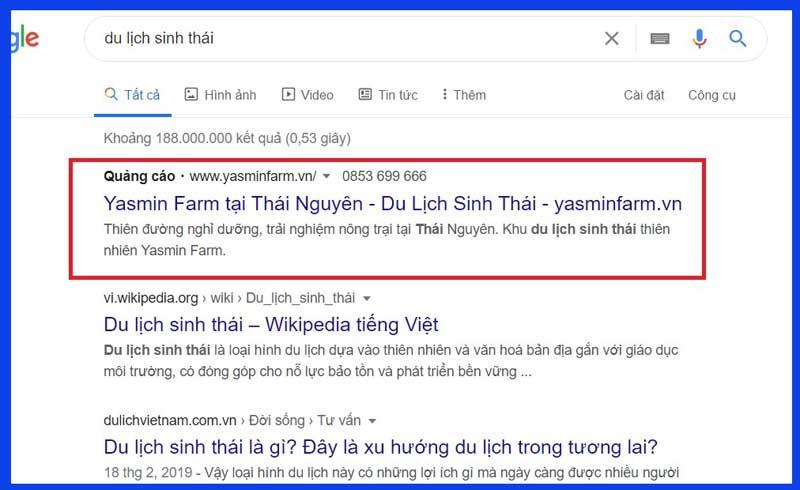 mot quang cao google ads tai thai nguyen nam 2020