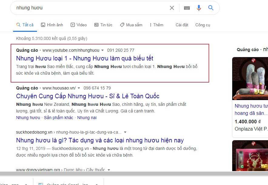 chay quang cao google thực tế